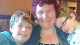 Claire Throssell and her sons Jack and Paul Sykes