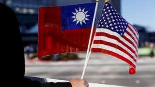 台湾和美国旗