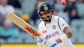 Virat Kohli in action for India