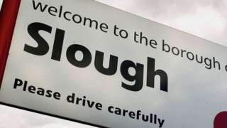 Slough town sign