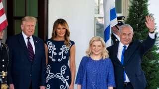 Дональд и Мелания Трамп и Сара и Биньямин Нетаньяху
