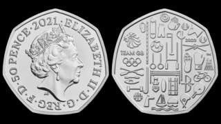 Both sides of the 50p piece