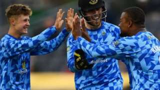 Sussex teenager Archie Lenham took 3-14 from his three overs to help hammer Hampshire at Hove