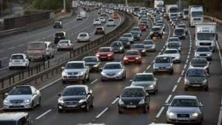 Queue of traffic