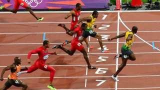 Final dos 100m rasos masculinos em Londres 2012