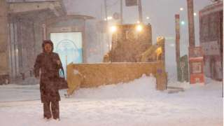 A Toronto snow storm