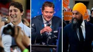 Trudeau, Scheer and Singh