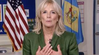 Jill Biden speaks at the Democratic National Convention