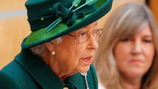 The Queen addresses the debating chamber at Holyrood