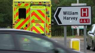Ambulance outside William Harvey Hospital