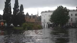 Flooding in Barnstaple