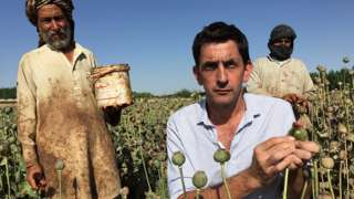 Justin Rowlatt and poppy farmers