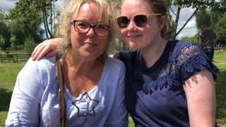 Corinna (l) with her daughter Lea