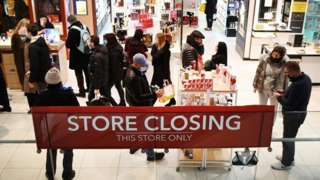 Debenhams 'Store Closing' sign