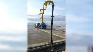 Concrete pump at Port of Felixstowe