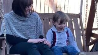 Nicola Wharton and her son Aaron