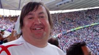 Paul Dubberley in Berlin for the cup final in 2006