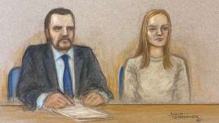 Lucy Letby and he solicitor Richard Thomas
