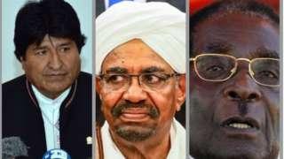 Morales, Al- Bashir and Mugabe