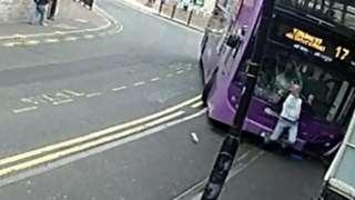 Bus hit