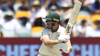 Marnus Labuschagne batgting for Australia