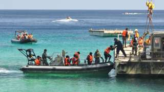 Asylum seekers land at Christmas Island