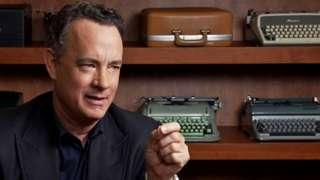 Tom Hanks with typewriters