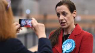 Brexit Party candidate Annunziata Rees-Mogg at the European Parliamentary elections count at the Kettering Conference Centre in Kettering