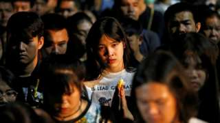 A vigil is held in Nakhon Ratchasima for the victims