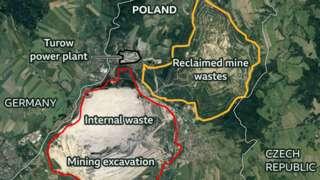The Turow mine sites in Poland