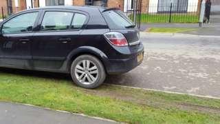 Grass verge parking