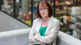 Prof Sarah Gilbert at work