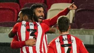 Saman Ghoddos scores for Brentford