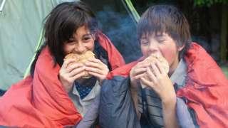 Children camping