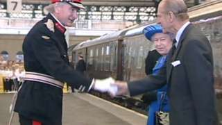 The Queen and Prince Philip at Hull station