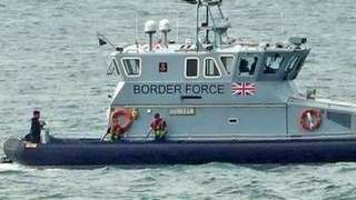 Border Force vessel in the English Channel.
