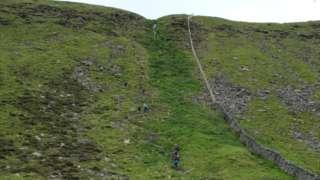 People using High Lot footpath