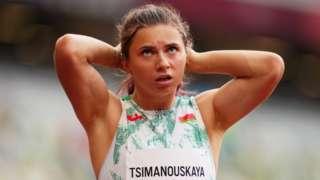 Krystina Timanovskaya at the Tokyo Olympics. Photo: 30 July 2021