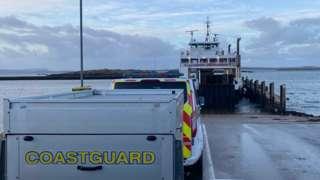 Coastguard and ferry