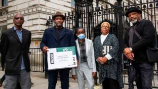 Campaigners outside Downing Street