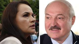 Svetlana Tikhanovskaya and Alexander Lukashenko vote in the Belarus election