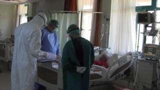 Türkiye'de tedavi gören bir Covid hastası