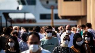 türkiye maskeli insanları