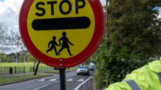 Lollipop man with sign - generic