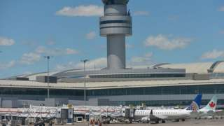 A view of a part of the Toronto Pearson International Airport