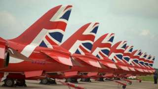 Hawk jets of the Red Arrows
