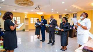 Swearing in of di Lagos Panel of Inquiry on Police Brutality