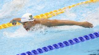 South African swimmer Chad le Clos in action at Tokyo Olympics