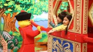Children in the Beijing Lego store