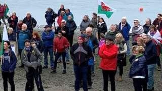 protesters in Pembrokeshire